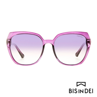 BIS IN DEI 顯瘦大方框太陽眼鏡-紫
