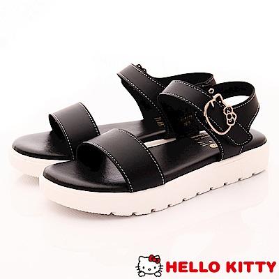 Hello Kitty-輕量休閒涼鞋款-EI18178黑(女段)