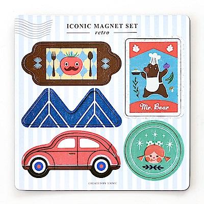 ICONIC 童趣軟性磁鐵組(5入)-復古玩意