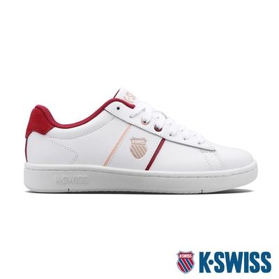 K-SWISS Court Vittora 時尚運動鞋-女-白/酒紅/藕粉