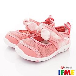 IFME健康機能鞋 蝴蝶結排水款 NI00601粉紅(寶寶段)