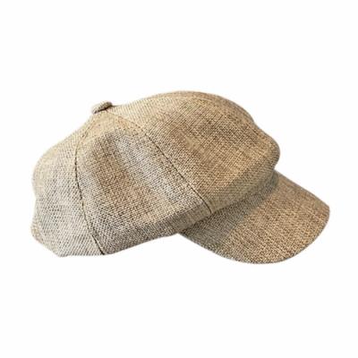 文青棉麻貝蕾帽 共三色 TATA