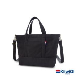 Kiiwi O! 百搭隨行系列2way帆布托特包 ZARA (A4 OK!) 黑