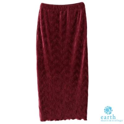 earth music 變形波紋窄身裙