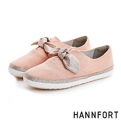 HANNFORT CALIFORNIA金沙扭結丹寧休閒鞋-女-夢幻粉
