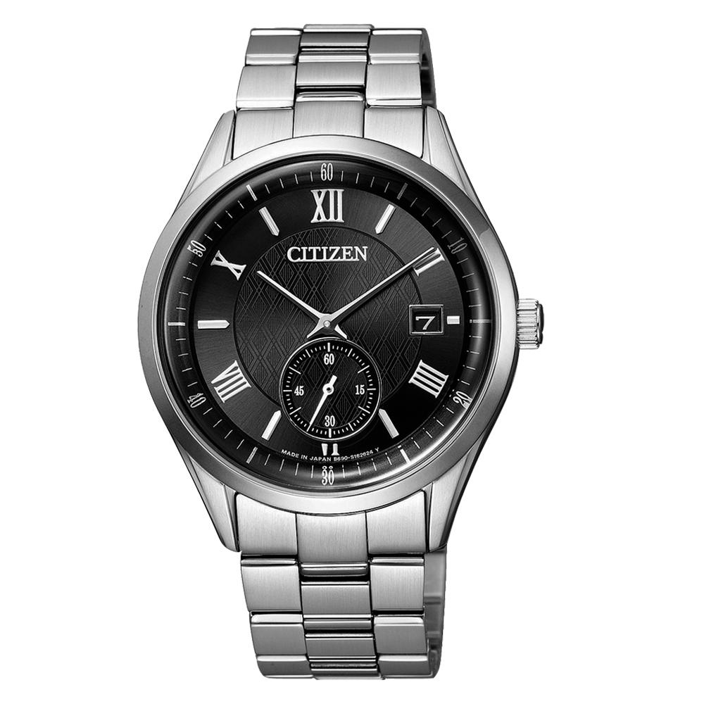 CITIZEN 星辰 GENT'S 光動能不鏽鋼腕錶-黑(BV1120-91E)