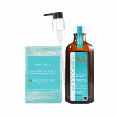 Moroccanoil 摩洛哥優油 輕優油愛皂禮盒-輕優油+經典香氛沐浴皂