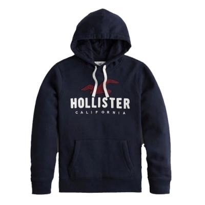 Hollister HCO 男 帽T 藍色 1461