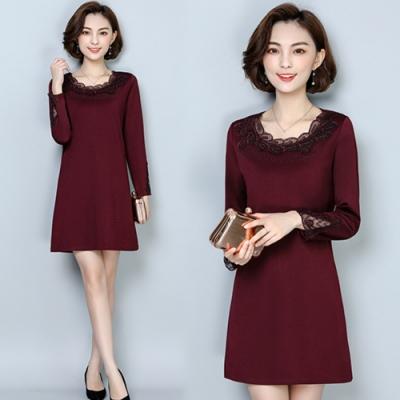【韓國K.W.】氣質出眾素色簡約顯瘦洋裝