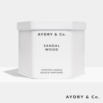 美國 AYDRY & CO. 檀香木 天然手工香氛 極簡純白錫罐 212g