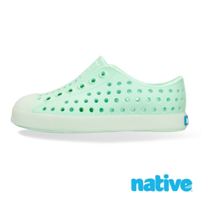 native 小童鞋 JEFFERSON 小奶油頭鞋-青蘋果綠x夜光