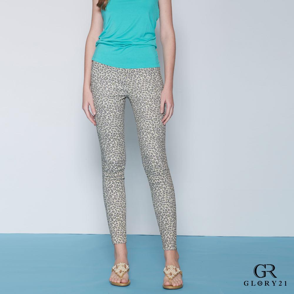 GLORY21 豹紋印花合身長褲-豹紋 @ Y!購物