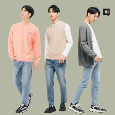 [時時樂限定]H:CONNECT 韓國品牌 男裝-韓系質感牛仔褲-多款