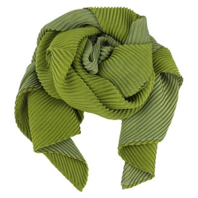 ISSEY MIYAKE 三宅一生 PLEATS PLEASE TWO TONE 雙色斜紋圍巾-抹茶綠