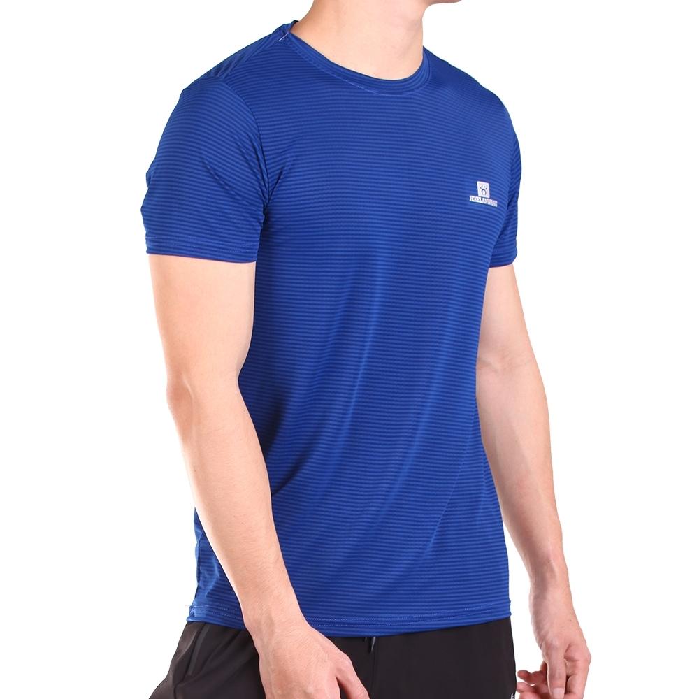 CS衣舖 冰鋒衣 四面彈冰絲涼感吸排短袖T恤 多款多色 (A款-寶藍)