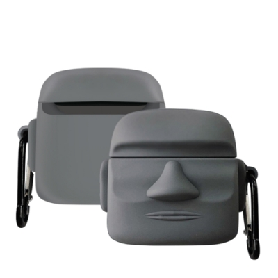 AirPodsPro保護殼 可愛俏皮 石像造型 藍牙 耳機 AirPods Pro 保護套-石像*1