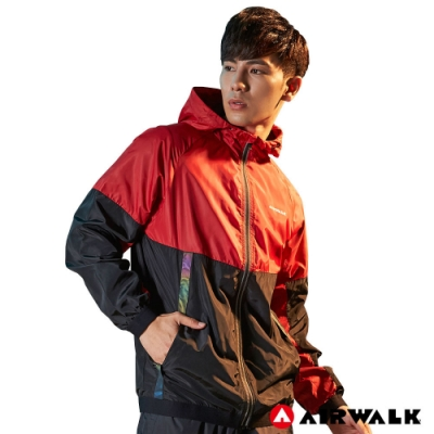 【AIRWALK】男款連帽風衣外套-共兩色