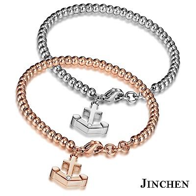 JINCHEN 白鋼船錨手鍊