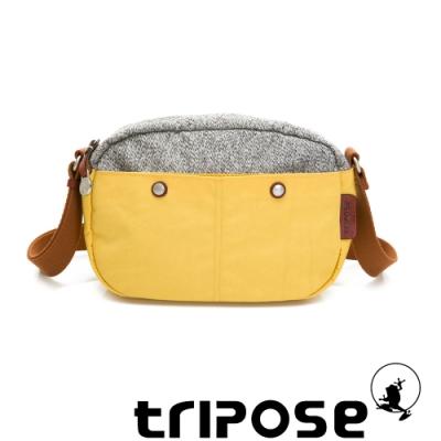 tripose 漫遊系列 岩紋x微皺尼龍斜背包 活力黃