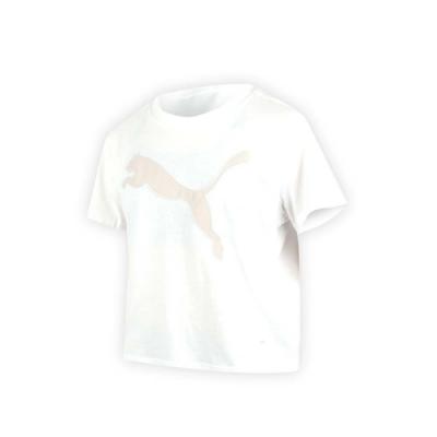 PUMA 女基本系列大跳豹短袖T恤-慢跑 路跑 白卡其