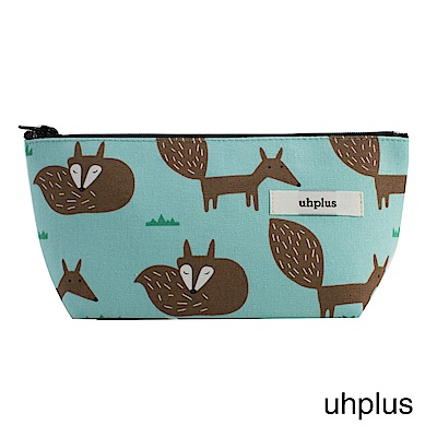 uhplus Q-plus萬用收納包- 小狐狸(藍綠)