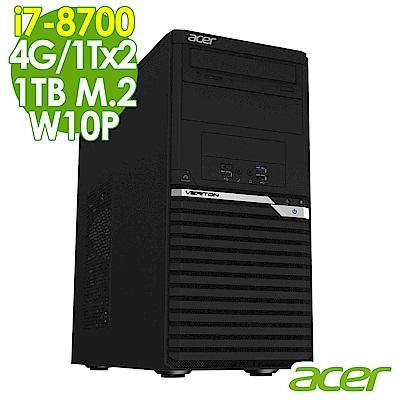 Acer VM6660G i7-8700/4G/1Tx2+1TM2/W10P