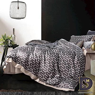 DESMOND 雙人60支天絲八件式床罩組 海莉-灰 100%TENCEL