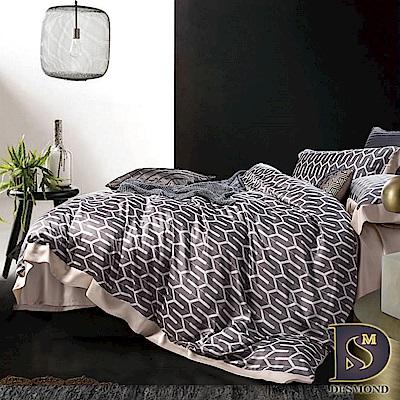 DESMOND 特大60支天絲八件式床罩組 海莉-灰 100%TENCEL