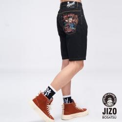 地藏小王  BLUE WAY  -  鎖鏈老鷹彈性短褲(黑)