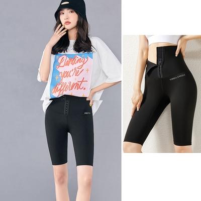 夏日提臀收腹塑腿型五分褲-運動外穿(M-3L).Bifox