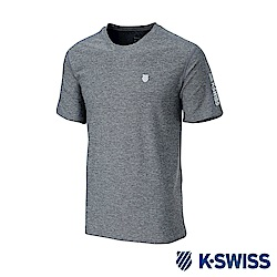 K-SWISS PF RE Melange Tee排汗T恤-男-灰