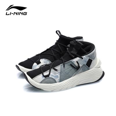 LI-NING 李寧 悟道 Kung Fu Winterized運動時尚籃球休閒鞋 標準黑/淺藍牛仔 男款 (AGBQ073-4C)