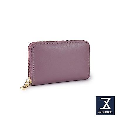 74盎司 簡約真皮防RFID功能卡片包[LN-736]紫