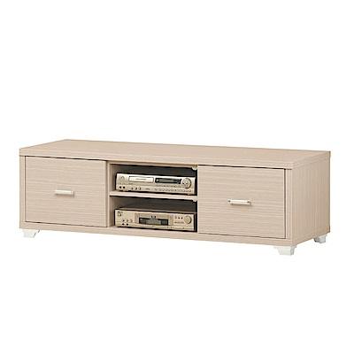 綠活居 比娜 時尚6尺木紋電視櫃/視聽櫃(二色)-179x52.5x46.5cm免組