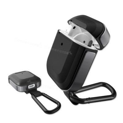 刀鋒TREK Apple Airpods 鋁合金雙料 藍牙耳機盒保護套(迷霧幻夜黑)