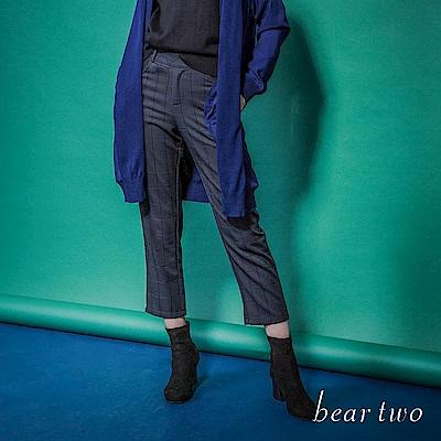 beartwo 英倫風復古格紋老爺褲(黑色)