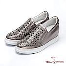 【CUMAR】簡約步調 - 排列鑽飾內增高懶人休閒鞋