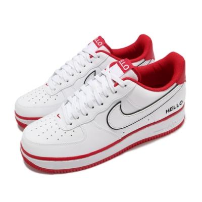 Nike 休閒鞋 Air Force 1 07 LX 男女鞋 經典款 AF1 皮革 簡約 情侶穿搭 白 紅 CZ0327100