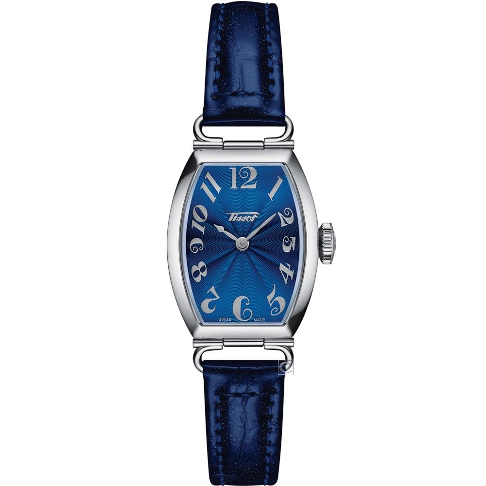 TISSOT Heritage Porto 優雅酒桶形時尚手錶(T1281091604200)