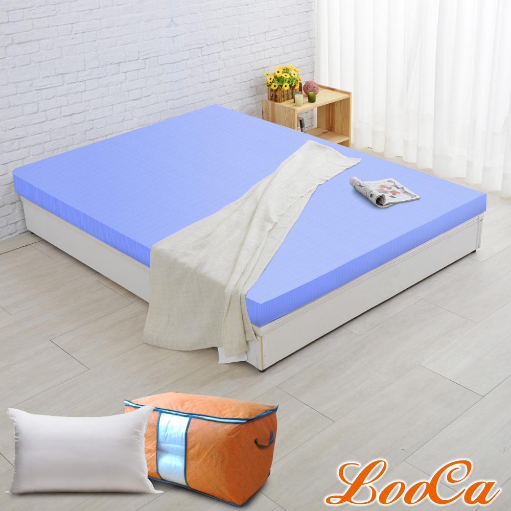 (開學組)LooCa 美國Microban抗菌彈力10cm記憶床墊-雙人5尺