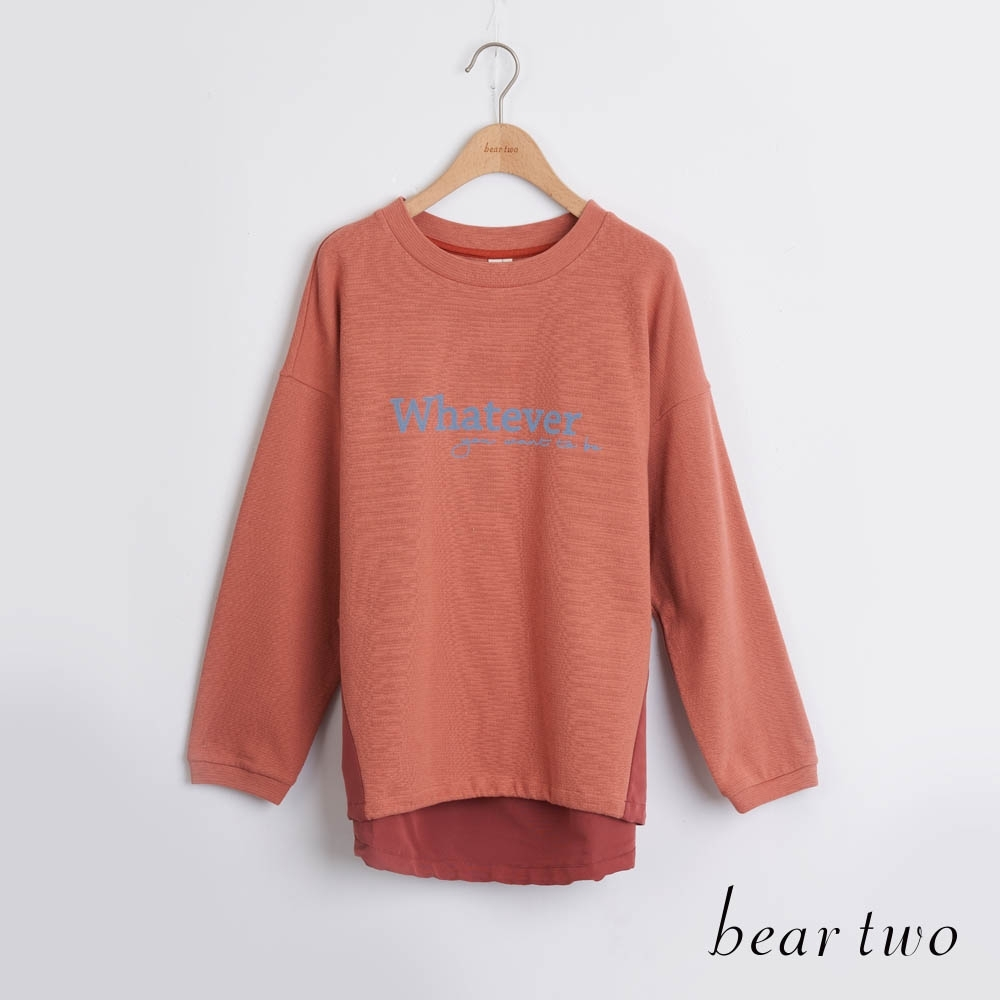 bear two- whatever文字造型上衣 - 紅 product image 1