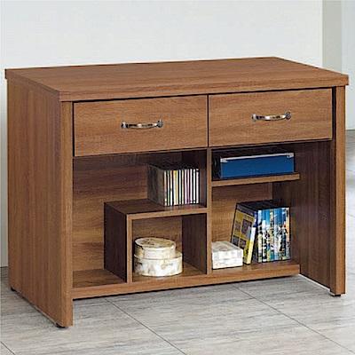 綠活居 海朵時尚3.2尺木紋二抽書桌/電腦桌-96x58x76cm免組