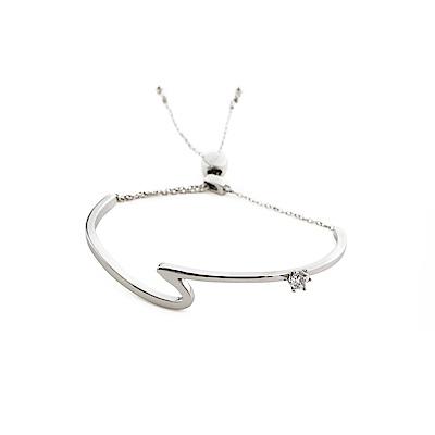 agnes b. 反諷點女性手環(銀)