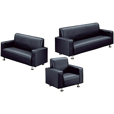 綠活居 巴迪時尚皮革沙發椅組合(三色+1+2+3人座)