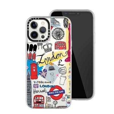 Casetify iPhone12 ProMax 輕量耐衝保護殼-倫敦印象(透)