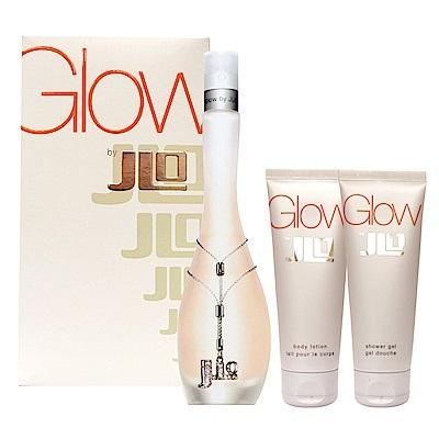 J.LO Glow 女性噴式淡香水禮盒(淡香水100ml+身體乳75ml+洗沐精75ml)