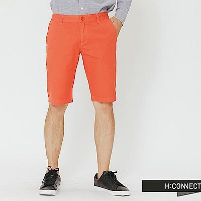 H:CONNECT 韓國品牌 男裝-休閒感修身短褲-橘