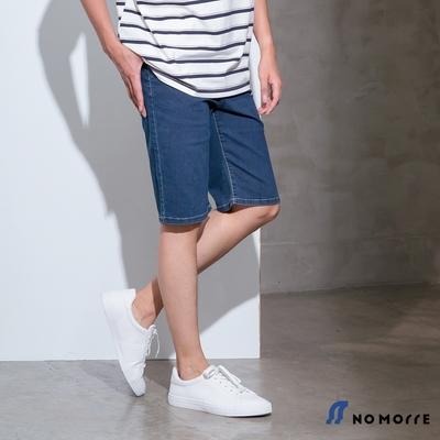 NoMorre【MIT】台灣製超彈力經典原色丹寧短褲-藍色