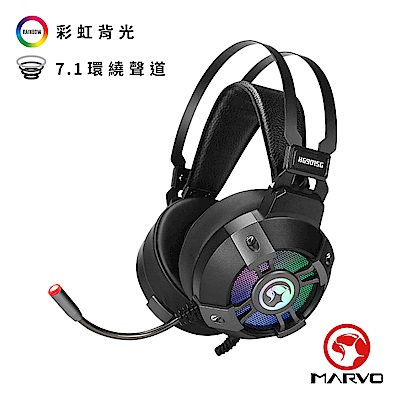 【MARVO魔蠍】HG9015G 7.1聲道電競RGB耳罩式耳機