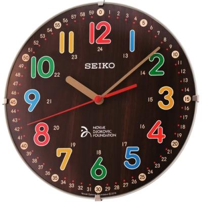 SEIKO 精工 滑動式秒針 靜音 座掛兩用 掛鐘/桌鍾(QXA932B)-咖啡/21cm